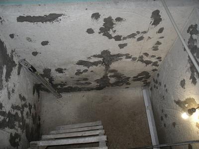 Купель из бетона после устранения дефектов