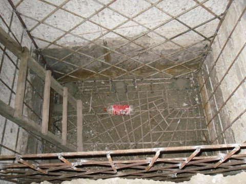Купель из бетона с арматурой