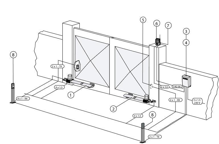 Автоматика для распашных ворот своими руками чертежи 1