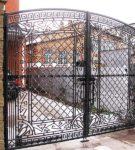 Ажурные кованные ворота