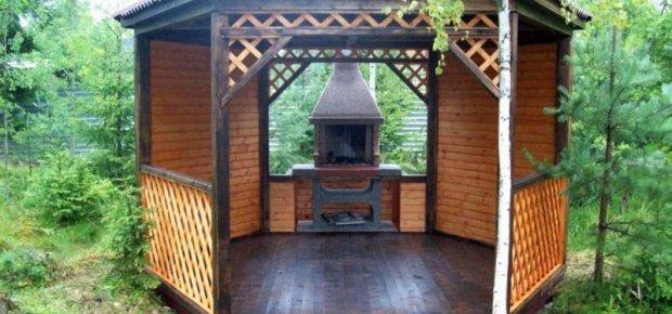 Восьмиугольные деревянные беседки с барбекю площадка под барбекю цена