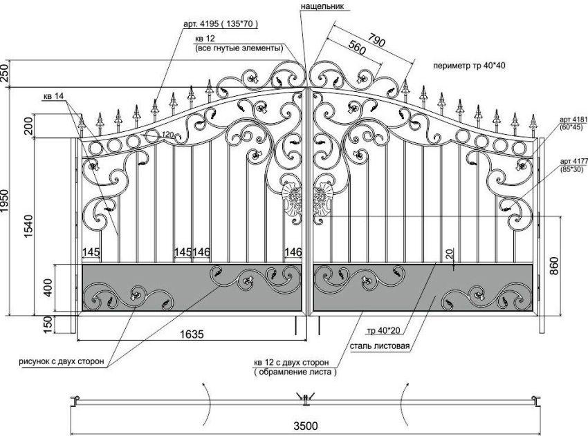 декоративные металлические ворота схемы сборки того, термобелье