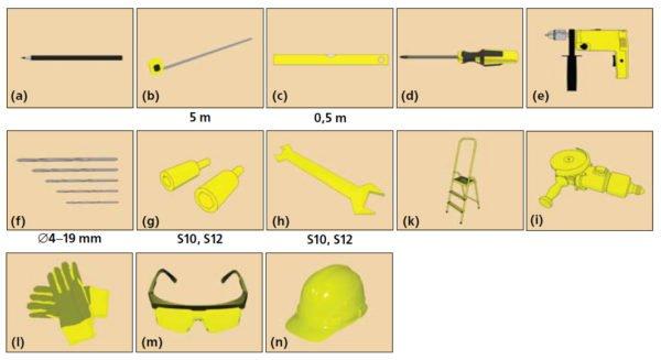 Инструменты для изготовления подъёмно-поворотных ворот