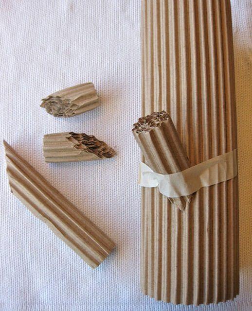 Искусственные дрова из картона