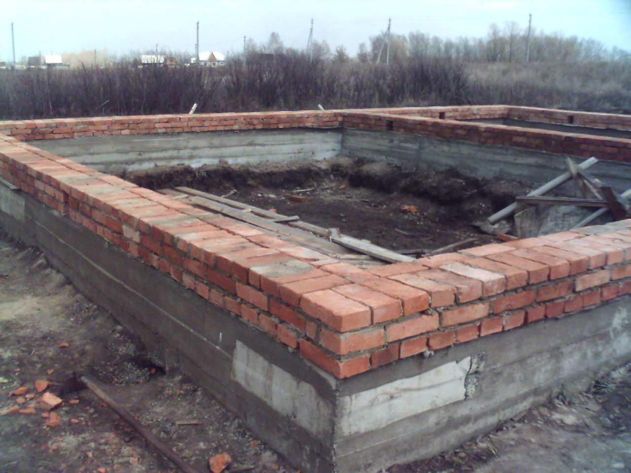 Кирпично ленточный фундамент своими руками 883