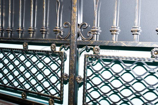 Кованые ворота окрашенные