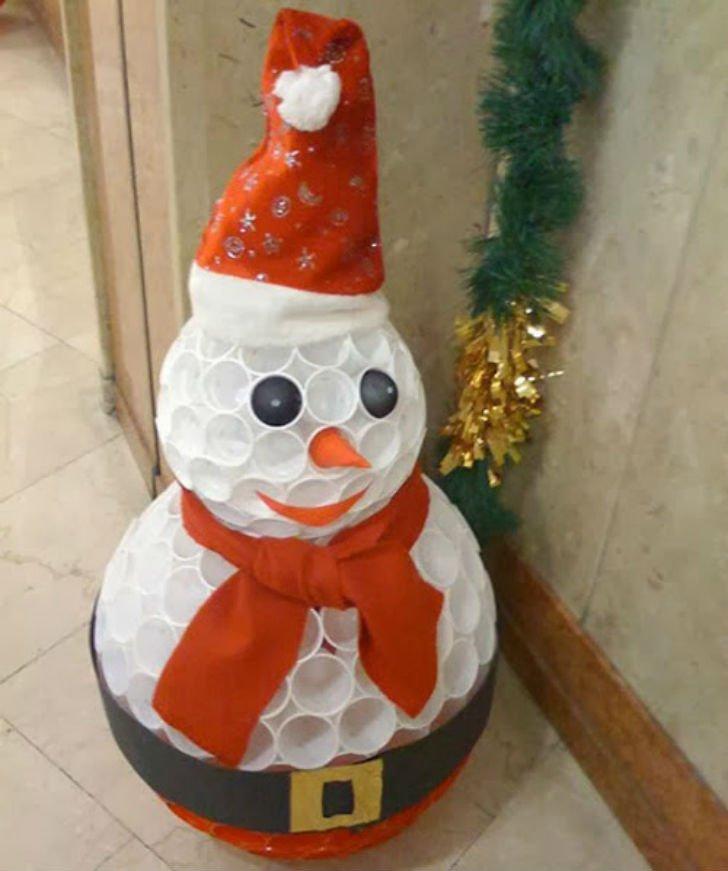 Снеговик из стаканчиков своими руками пошаговое фото фото 112