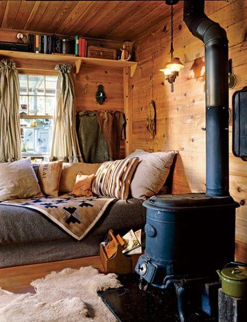 Дом с дровяной печью