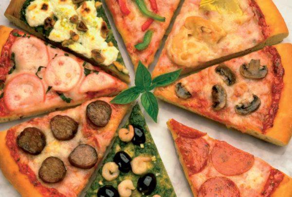 Пиццы с разными начинками