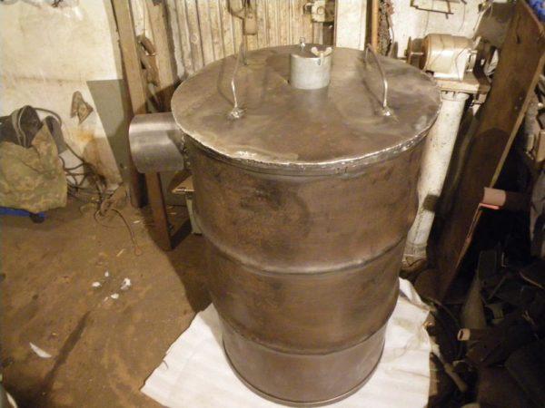 Пиролизная металлическая печь