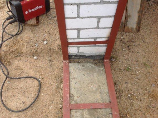Рама для каркаса подъёмно-поворотных ворот