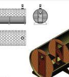 Проект бани-бочки трёхмерный