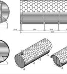 Проект бани-бочки небольших размеров