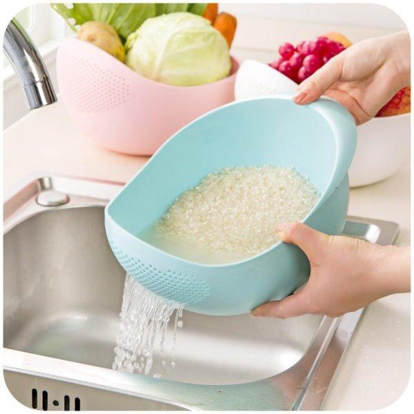 Промывка риса