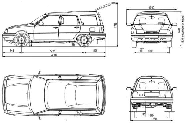 Габаритные размеры легкового автомобиля