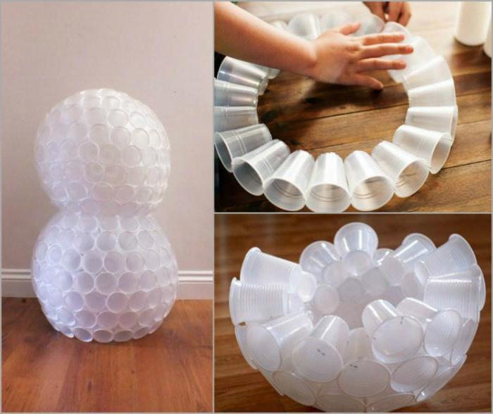 Как сделать шар из пластиковых стаканчиков пошагово
