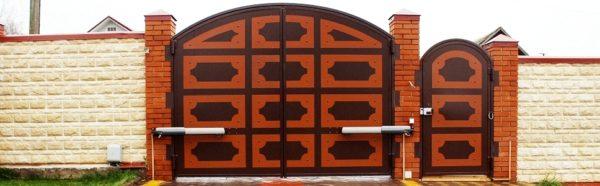 Механизм распашных ворот