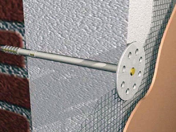 Зонтики для крепления пенополистирола к бетону