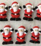 Елочные игрушки в виде Деда Мороза