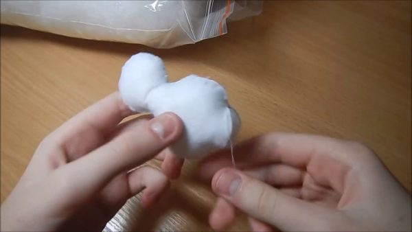 Формирование снеговика из фетра