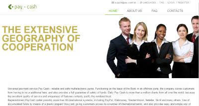 Главная страница мошеннических сайтов efee.biz и pay-cash.biz