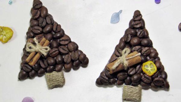 Кофейные сувенирные елочки