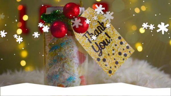 Конфетный подарок на Новый год своими руками