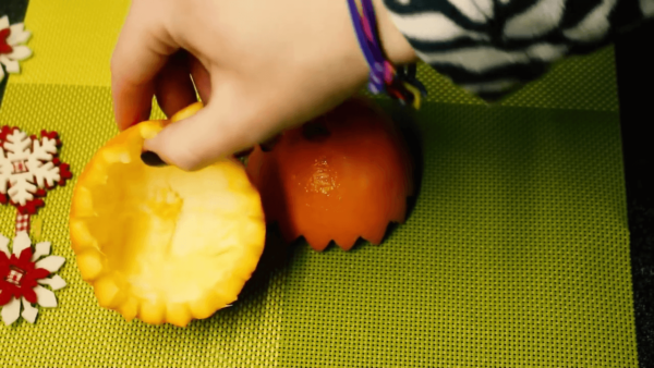 Мисочка для салата из апельсина