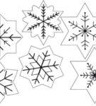 Набор шаблонов для снежинок