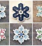 Набор снежинок для украшения елки