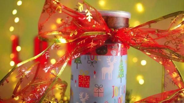 Новогодний подарок с печеньем