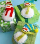 Новогодняя упаковка для подарков 1