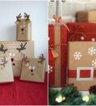 Новогодняя упаковка для подарков 19