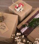 Новогодняя упаковка для подарков 2
