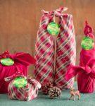 Новогодняя упаковка для подарков 8