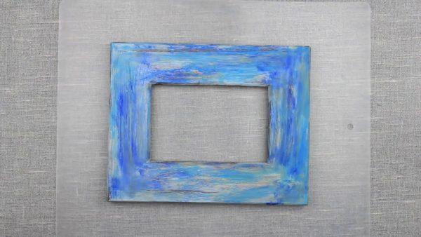 Рамка синего цвета