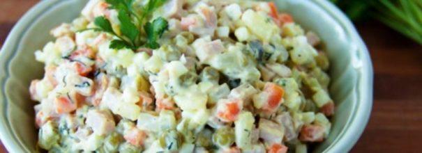 Оливье рецепт классический с колбасой пошагово 2 кг