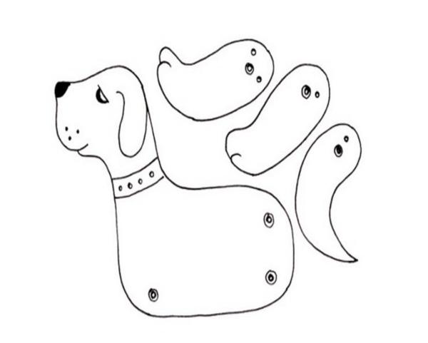 Шаблон для подвижной игрушки щенка