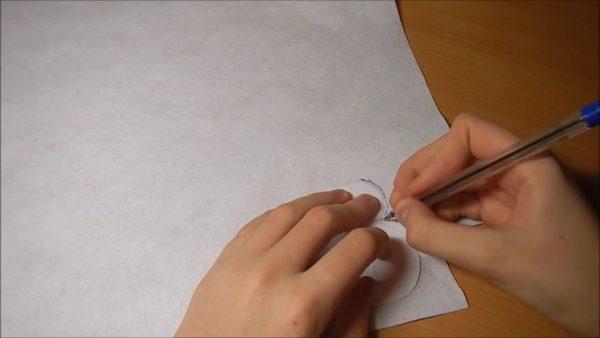 Шаблон снеговика из бумаги и лист фетра