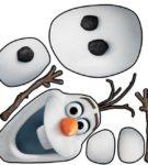 Шаблон снеговика Олафа из мультфильма Холодное сердце