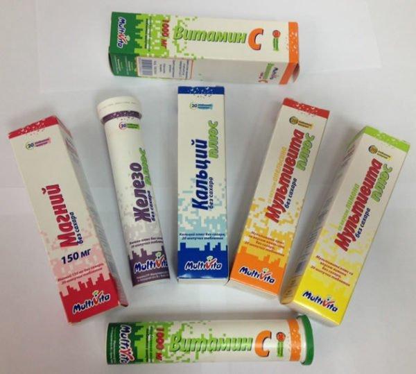 Шипучие витамины и микроэлементы в таблетках