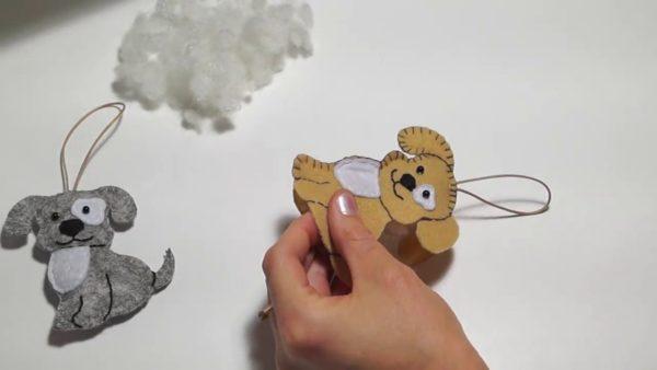 Собаки игрушки из фетра