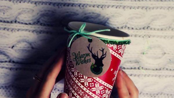 Стакан для новогоднего подарка