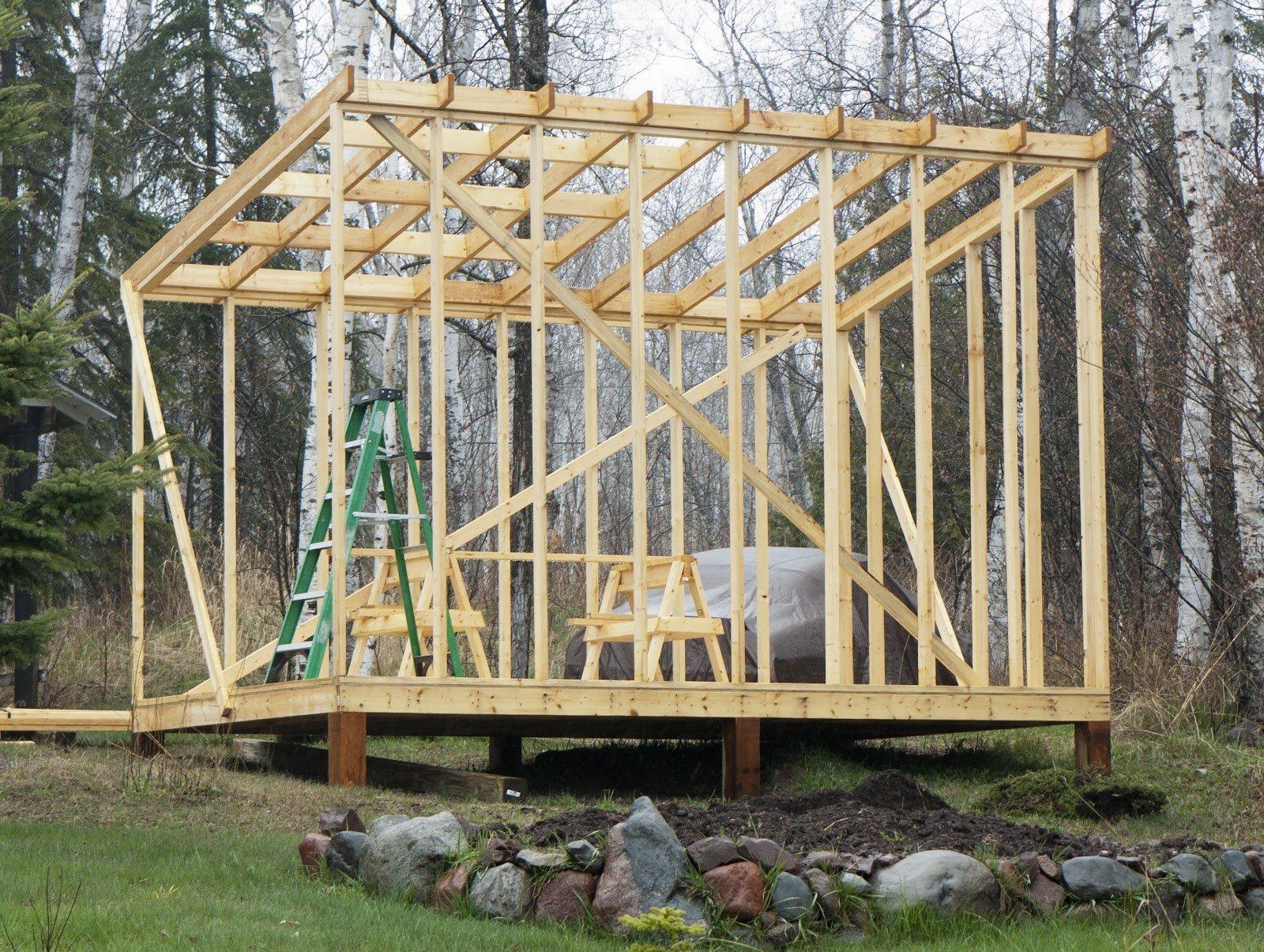Как построить дровяник своими руками поэтапно фото