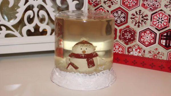 Сувенир со снеговиком к Новому году