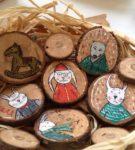 Сувениры из деревянных спилов