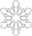 Вариант выкройки для снежинки