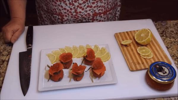 Закуска из красной рыбы Мешок Деда Мороза