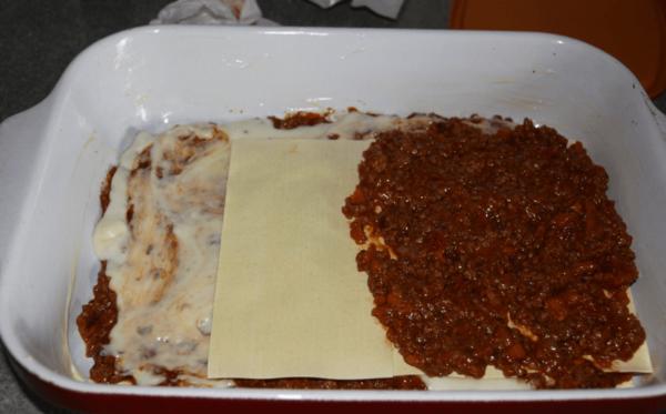 Мясной соус на листы лазаньи