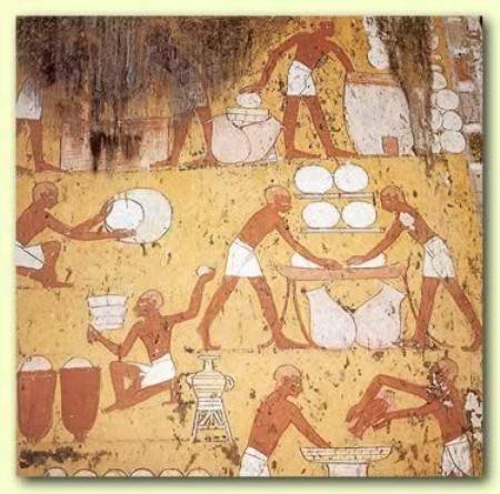 Древние греки пекут хлеб